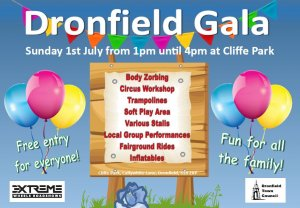 Fantastic new activities at the 2018 Dronfield Gala on 1st July