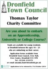 Deadline approaching for Thomas Taylor Charity