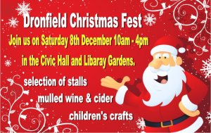 Dronfield Christmas Fest this Saturday, 8th December