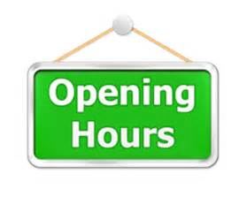 Office opening times Friday 25th January