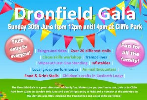 Don't miss the Dronfield Gala on Sunday 30th June