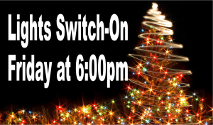 2019 Christmas Lights Switch-On Friday at 6:00pm