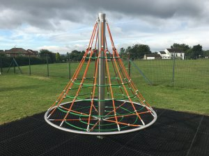 Great new cone climber at Hilltop play area