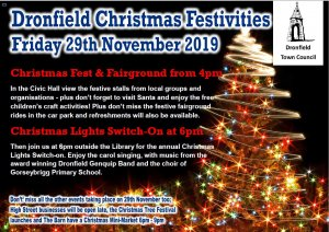Dronfield Christmas Festivities - 29th November from 4pm