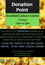 Dronfield Sports Centre Food Collection Point